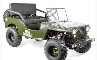 La Jeep enfant 150cc, un quad enfant costaud aux allures de la Jeep Willys